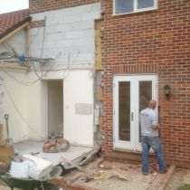 Demolition of utility room