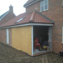 Installation of bi-fold doors