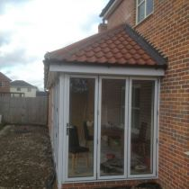 Bi-fold doors far side elevation