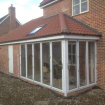 Bi-fold doors side elevation
