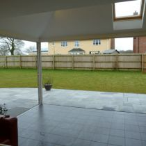 Bi-fold doors when fully opened
