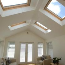 Sun room Velux windows